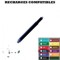 Monteverde - boite de 8 cartouches compatible Lamy - stylo plume