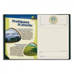 Agenda scol- 100% recy- 12*17cm - Textagenda - QUO VADIS