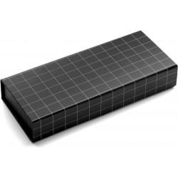 Stylo bille - metal - quadrille noir