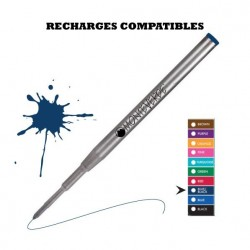 Monteverde - recharge compatible Montblanc -stylo bille