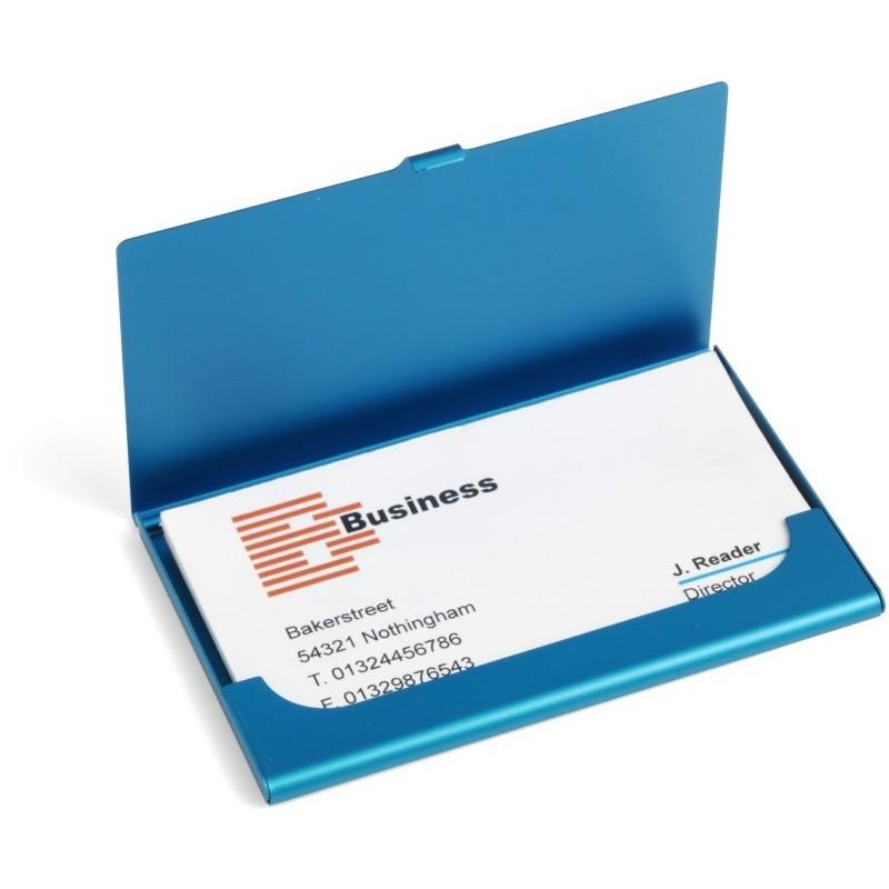 Porte cartes de visite - aluminium anodise